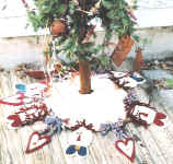 Raggedy Ann Christmas tree skirt