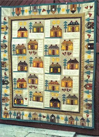 Home sweet primitive home quilt pattern for primitive