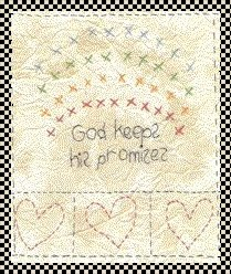 God keeps his promises primitive inspirational stitchery