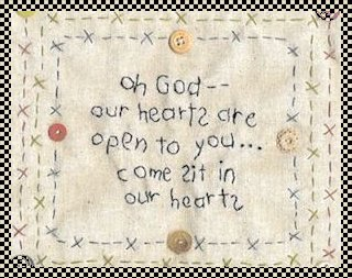 Our hearts are open primitive stitchery pattern