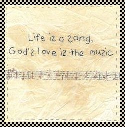 Life is a song stitchery