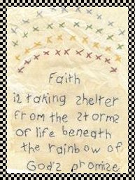 Faith primitive stitchery pattern