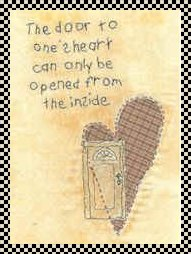 door to one's heart primitive stitchery pattern