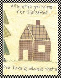 home for Christmas primitive applique pattern
