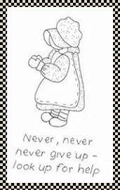 never give up primitive stitchery