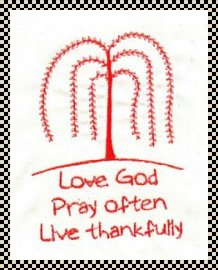 Pray often primitive stitchery